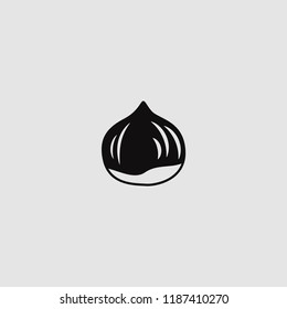 vector isolated chestnut icon