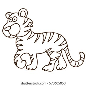Coloring Book Pages Tiger Stock Illustrations Images