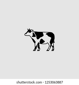vector  isolated cow illustration