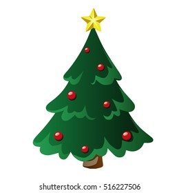 Vector isolated cristmas tree