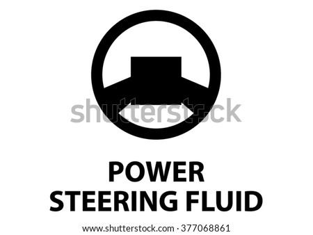 Vector Isolated Dashboard Sign Power Steering Stock Vector Royalty