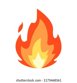 vector isolated fire emoji