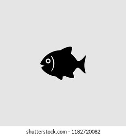 vector isolated fish icon. vector illustration