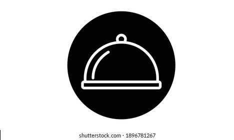 Vector Isolated Food Icon. Black and White Simple Flat Food Icon