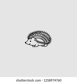 vector isolated hedgehog illustration