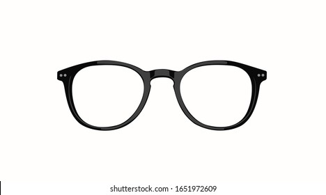 Vector Isolated Illustration of Glasses