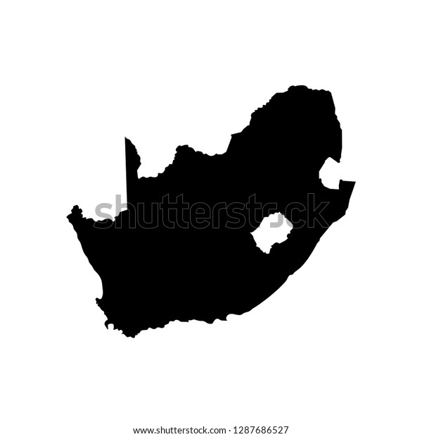 Vector Isolated Illustration Political Map African Stock Vector
