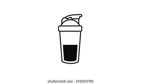 Vector Isolated Illustration of a Potein Shaker. Protein Shaker Icon