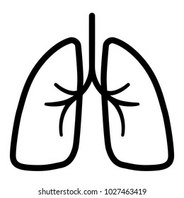 Vector isolated lungs sign