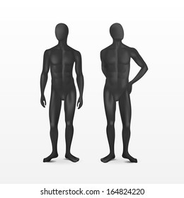 Vector Isolated Male Mannequins