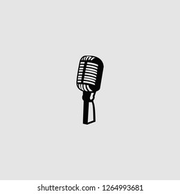 vector isolated microphone illustration