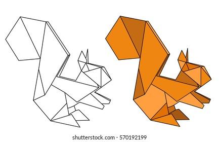 Easy Origami Animals Origami Paper Origami origami, squirrel ... | 280x433