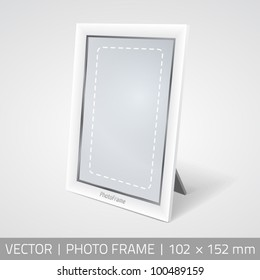 Vector isolated photo frame in perspective