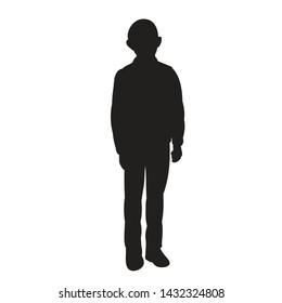 vector, isolated, silhouette of a guy, a boy is standing