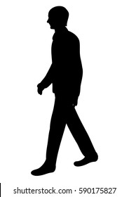 vector isolated silhouette man walking