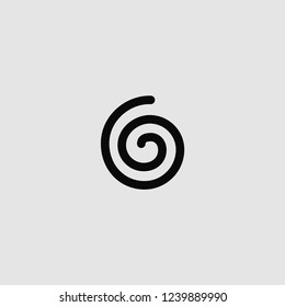 vector isolated spiral icon