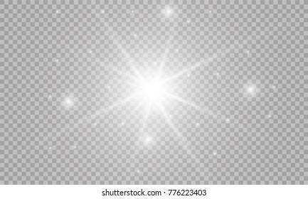 Vector isolated spotlight. Light effect
