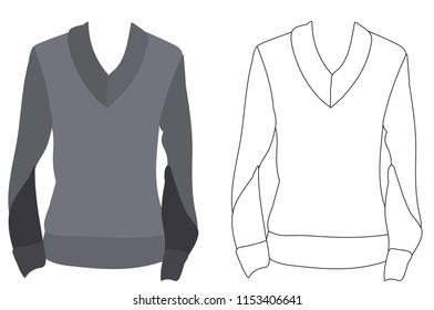 vector, isolated, sweater