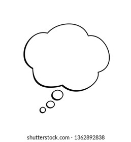 Vector isolated think cloud.