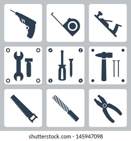 Vector isolated tools icons set