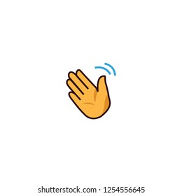 vector isolated wave hand illustration