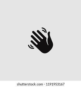 vector isolated waving hand icon