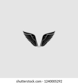 vector isolated wing icon
