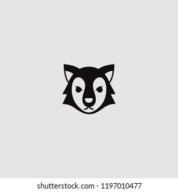 vector isolated wolf icon