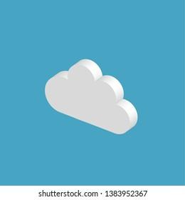 Vector isometric 3d cloud illustration