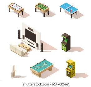 Vector isometric games set