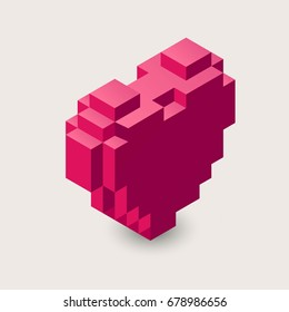 Minecraft Heart Images, Stock Photos & Vectors | Shutterstock