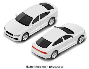 Vector isometric high quality sport sedan. Car icon
