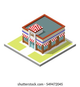 Vector isometric icon infographic 3d building