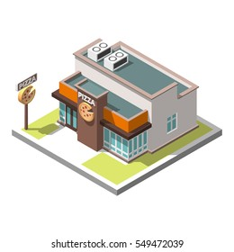 Vector isometric icon infographic building