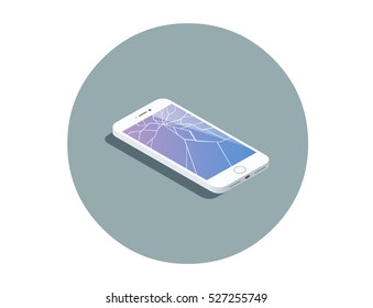Cracked Screen Images, Stock Photos & Vectors | Shutterstock