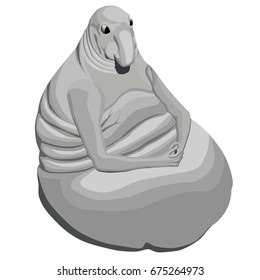 Vector isometric meme Homunculus loxodontus