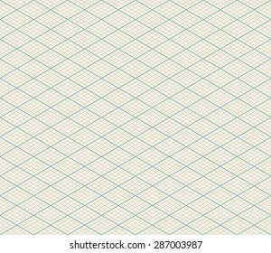 Vector Isometric Seamless Retro Background