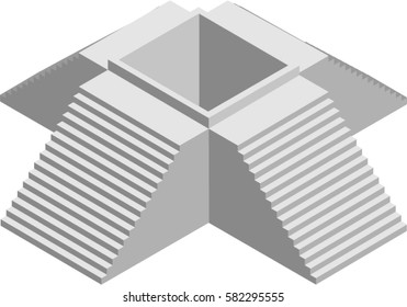 Vector Isometric stairs