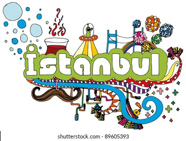 Vector Istanbul Doodle