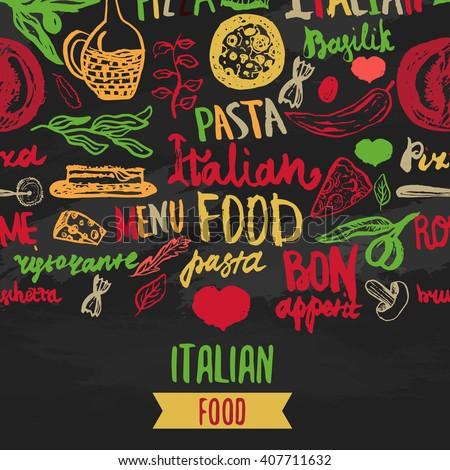 vector italian menu vector template various stock vector royalty