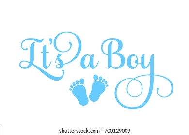 "Vector ""It's a Boy"" inscription"