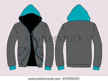 vector jacket design template stock vector royalty free 143988181