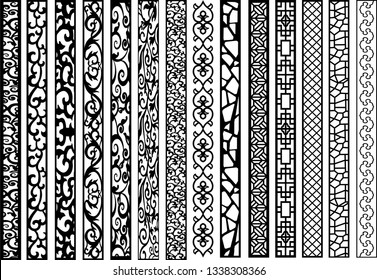 Vector jali design for graphic and plywood partition foam, acrylic and cnc machine cutting.