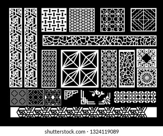 vector jali design for graphics for graphic and plywood partition foam, acrylic and cnc mechine cutting.