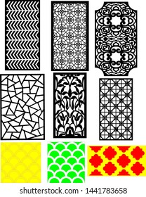 vector jali for graphic design, corner and border design and plywood partition foam, acrylic and cnc machine cutting.