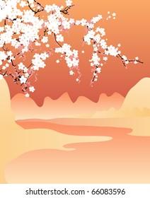 Vector japan background