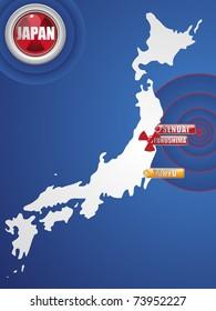 Vector - Japan Earthquake and Tsunami Disaster 2011