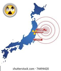 Vector - Japan Earthquake, Tsunami and Nuclear Disaster 2011