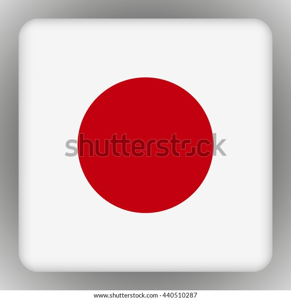 Vector japan flag on a gray background . Vector illustration