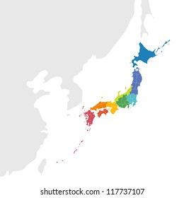 vector japan map